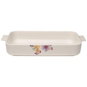Bílá porcelánová zapékací mísa Villeroy & Boch Mariefleur Basic, 34 x 24 cm