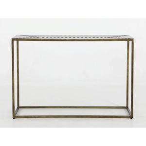 Železný konzolový stolek Canett Stitch, 40x120cm
