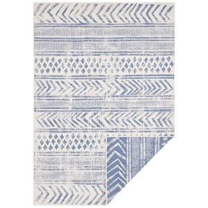 Modro-krémový venkovní koberec Bougari Biri, 120 x 170 cm