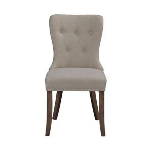 Béžová jídelní židle s hnědými nohami Rowico Adele
