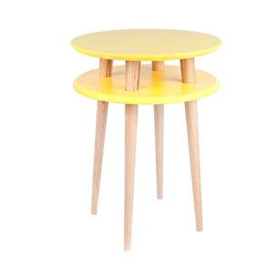 Žlutý konferenční stolek Ragaba UFO,Ø45 cm