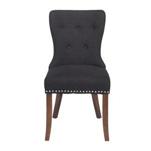 Černá jídelní židle s hnědými nohami Rowico Adele