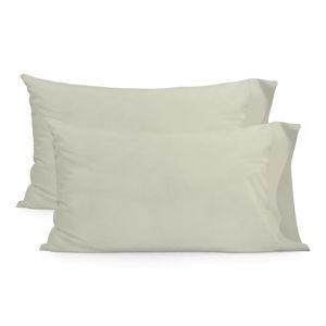 Sada 2 béžových bavlněných povlaků na polštář Happy Friday Basic, 50x75cm