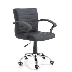 Černá kancelářská židle na kolečkách Tomasucci Pany