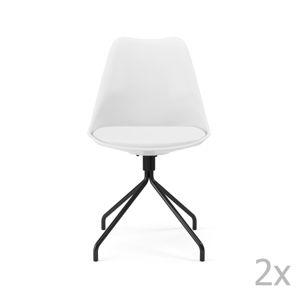 Sada 2 bílých jídelních židlí Tenzo Gina Star