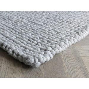 Pískově hnědý pletený vlněný koberec Wooldot Ball Rugs, 170 x 240 cm