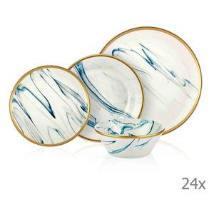 24dílný set porcelánového nádobí Mia Lucid Blues