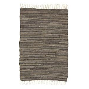 Hnědý vzorovaný koberec A Simple Mess Mille, 90x60cm