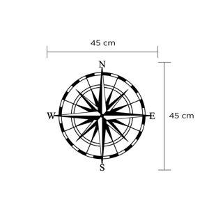 Nástěnná kovová dekorace Compass