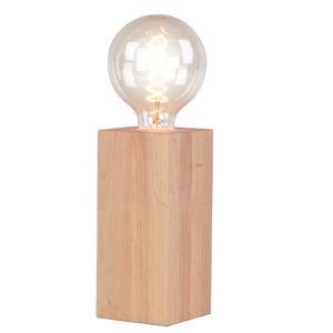 Stolní lampa z olšového dřeva Nørdifra Blocks, výška18cm