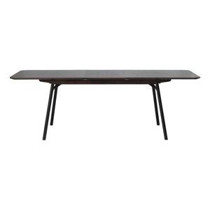 Černý rozkládací jídelní stůl Unique Furniture Latina