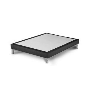 Tmavě šedá postel typu boxspring Stella Cadente Maison, 140x200cm