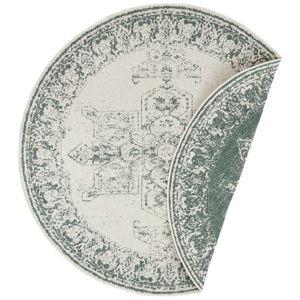 Zeleno-krémový venkovní koberec Bougari Borbon, ø 200 cm