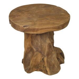 Odkládací stolek z teakového dřeva HSMcollection Kruk Root