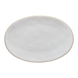 Bílý kameninový talíř Costa Nova Roda, 28 x 18,8 cm