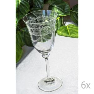 Sada 6 skleněných skleniček Floros, 250 ml