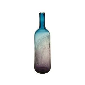 Modrá křišťálová dekorativní váza Santiago Pons Ryde, výška44cm