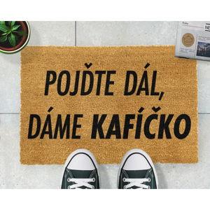 Rohožka z přírodního kokosového vlákna Artsy Doormats Kafíčko,40x60cm