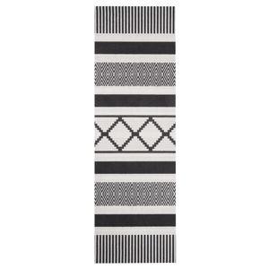 Černošedý kuchyňský běhoun Hanse Home Lineo, 45x140cm