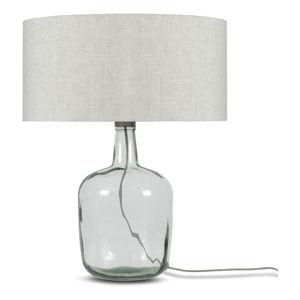 Stolní lampa se světle béžovým stínidlem a konstrukcí z recyklovaného skla Good&Mojo Murano, ⌀47cm