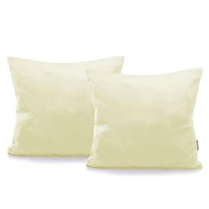 Sada 2 krémových bavlněných povlaků na polštáře DecoKing Amber Cream, 40 x 40 cm
