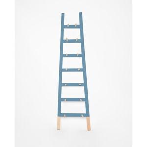 Modrý odkládací dekorativní žebřík z borovicového dřeva Surdic Azul