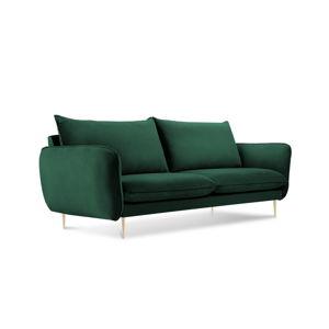 Lahvově zelená pohovka se sametovým potahem Cosmopolitan Design Florence