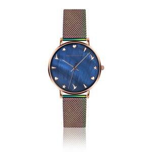 Dámské hodinky s duhovým páskem z nerezové oceli Emily Westwood Daisy