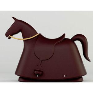 Hnědá dětská stolička ve tvaru koně Magis Rocky, výška71,5cm