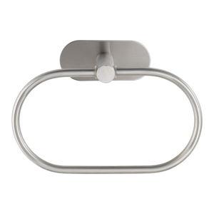 Nástěnný držák na ručníky z matné nerezové oceli Wenko Orea Ring Turbo-Loc®