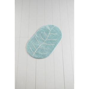 Modrá koupelnová předložka Yaprak Rock, 60 x 100 cm