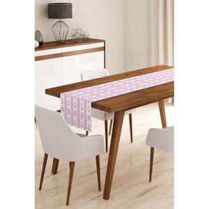 Běhoun na stůl z mikrovlákna Minimalist Cushion Covers Pink Navy, 45x145cm