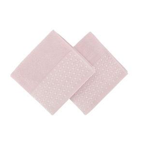 Sada 2 růžových ručníků na ruce Ulla