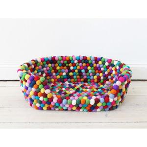 Kuličkový vlněný pelíšek pro domácí zvířata Wooldot Ball Pet Basket Multi, 40 x 30 cm