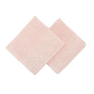 Sada 2 lososově růžových ručníků Zarif, 50 x 90 cm