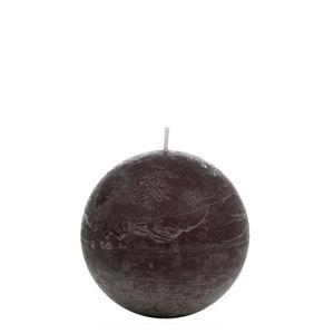 Hnědá svíčka J-Line Globe