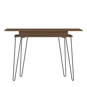 Tmavě hnědý konzolový stolek TemaHome Aero