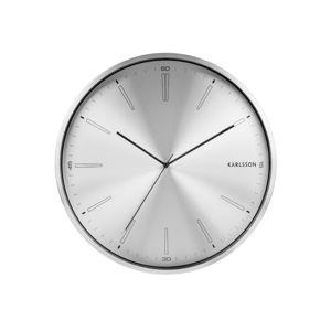 Šedé kovové hodiny Karlsson Distinct,ø40cm