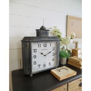 Železné stolní hodiny Orchidea Milano Vintage, výška50cm