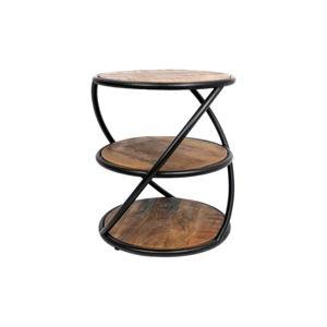 Příruční stolek z mangového dřeva HSM collection Tower, ø 43 cm