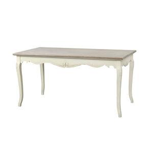Krémový jídelní stůl z topolového dřeva Livin Hill Rimini
