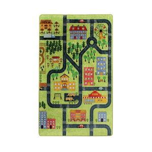 Dětský koberec Green Small Town 100x160cm