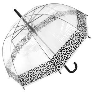 Transparentní holový deštník Ambiance Leopard, ⌀85cm