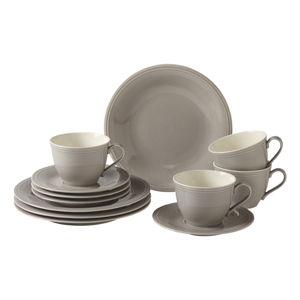 12dílný šedý porcelánový set nádobí na kávu Like by Villeroy & Boch Group Grey