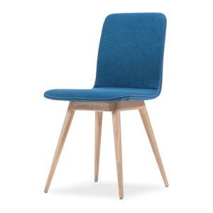 Modrá židle z dubového dřeva Gazzda Ena