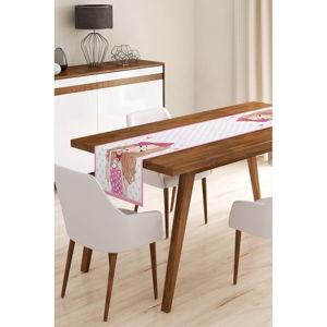 Běhoun na stůl z mikrovlákna Minimalist Cushion Covers Curly Cute Girl, 45x145cm