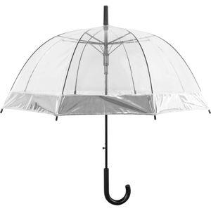 Transparentní holový deštník sautomatickým otevíráním Ambiance Silver, ⌀85cm