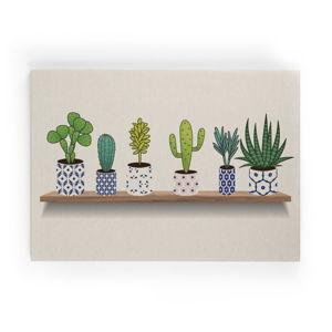 Obraz na plátně Really Nice Things Lino Cactus Shelve, 50 x 70 cm