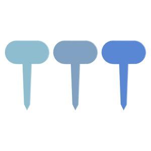 Sada 6 modrých tabulek k rostlinám Esschert Design Gardener, délka 11 cm