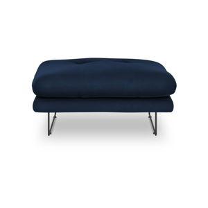 Královsky modrý puf se sametovým potahem Windsor & Co Sofas Gravity